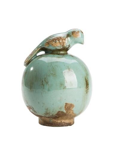 Warm Design Kuş Figürlü Seramik Küçük Dekoratif Obje Mavi